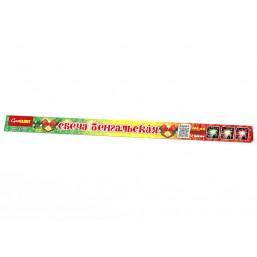 Бенгальские огни (3 шт-красный, желтый, зеленый)-400мм